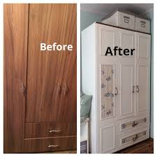 bedroom furniture makeover. Diy Furniture Makeover Ideas. Amazing Before And After White Paint Wardrobe Closet Image Bedroom S