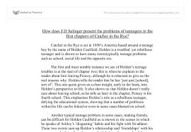 how does j d salinger present the problems of teenagers in the  document image preview