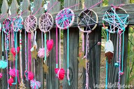 diy dream catcher party craft tazandbelly com