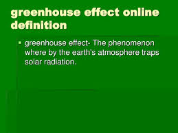 greenhouse effect online definition