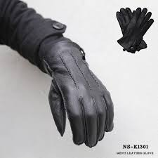mens gloves genuine leather leather gloves black wrist ribbed globe rakuten ping fs2gm