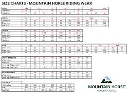 Mountain Horse Jacket Size Chart Mountain Horse Glory Event Jacket Ladies