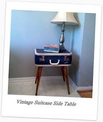 Suitcase Nightstand vintage suitcase side table somecrafty 5514 by guidejewelry.us