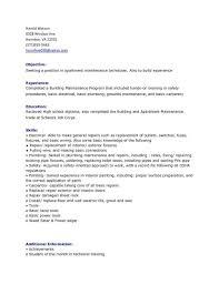 Maintenance Resume Cover Letter Cover Letter For Maintenance Mechanic Position Write Happy Ending 50