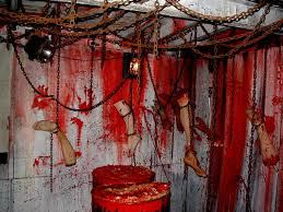 Ideas:13 Spooky House Decor For Halloween Haunted House Ideas Chained  Ceiling This Is What