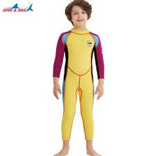 <b>Children</b> 2.5mm Neoprene Wetsuit <b>Kids</b> Diving <b>Surfing</b> Winter ...