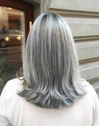 60 أنماط الشعر رائع رمادي