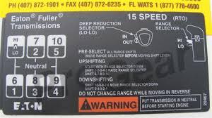 15 Speed Shift Pattern
