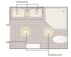 lighting the double sink bathroom bathroom lighting scheme
