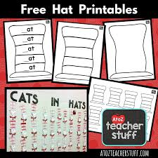 Small Picture Hat Printables for Dr Seuss Cat in the Hat or Just Hats A to