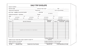 Excel Truck Drivers Trip Sheet Agcrewall