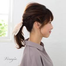 ヘアゴム リボン 黒 大人 スカーフ ゴールド ロング ヘアアクセサリー 髪留め ゴム シンプル ブランド