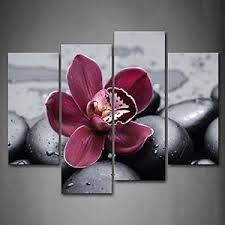 image is loading framed dark purple orchid flower canvas prints picture  on orchid flower wall art with framed dark purple orchid flower canvas prints picture wall art