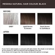 Gray Hair Color Chart Messina Natural Hair Colour Cream Black