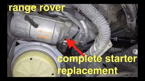 no start just ing noise starter motor replacement range rover fix it angel