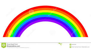 7 Colors Of Visible Light Seven Colors Rainbow Illustration On White Background Stock