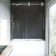 frameless bathtub doors elan in x in sliding tub door frameless bathtub door frosted glass