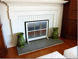 diy a fireplace screen