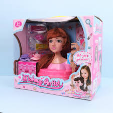 dels about fashion hair styling dolls head play set toy beauty s makeup artist gifts