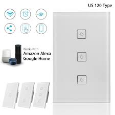 Walmart Wifi Light Switch 3 2 1 Gang Us Smart Wifi Wall Light Switch Touch Panel Switch App Control For Alexa For Google Home