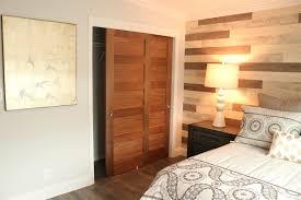double closet barn door