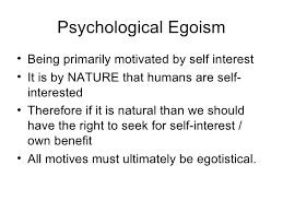 egoism psychological egoism