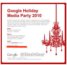 Google Holiday Party Invites Sent To Members Of The Media - Android ...