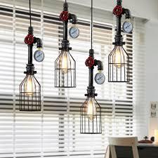 Us 4629 25 Offretro Loft Industrie Vintage Anhänger Licht E26 E27 Edison Metall Vogelkäfig Hängen Lampe Leuchte Für Bar Esszimmer In