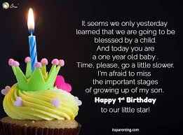 Birthday quotes for son inspiring and funny happy birthday quotes to share with your son on his birthday. Awesome 1st Birthday Wishes For Baby Boy Ira Parenting