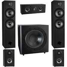 home theater surround sound. t652 5.1 home theater surround sound speaker system with 12\ u