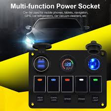 Slot Car Led Lights Us 35 68 20 Off Car Marine Waterproof Boat Rocker Switch Panel With Fuse Dual Usb Slot Led Light Power Socket Breaker Voltmeter For Rv Car Boat On