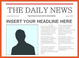 Blank Magazine Article Template Sample Newspaper Article Templates To Download Fake Template Reflexapp