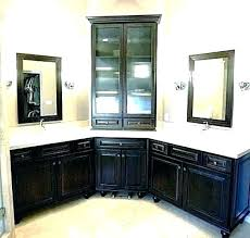 Image Double Sink Pulusajans Bathroom Under Sink Corner Cabinet Lowes Small Vanity Unit
