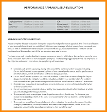Self Evaluation Performance Review Example Appraisal Completed ...