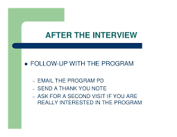 Thank You Letter For Residency Interview Cover Letter Samples