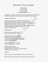 Automation Tester Resume Manual Testing Sample Resumes Junior Tester Resume Format For Years 23
