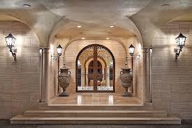 front french doorsMediterranean Front Door with French doors  exterior stone floors