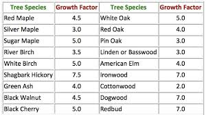 Oak Tree Growth Rate Chart How Old Is My Tree Purdue Landscape Report