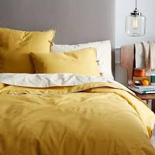 yellow bedding bed linen