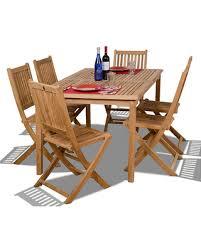 I Prague 7Pc Teak Outdoor Dining Set  International Home Miami