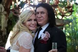 gene simmons wife wedding dress. sea star films shot the vow renewal for kiss frontman gene simmons in part of documentary \ wife wedding dress e