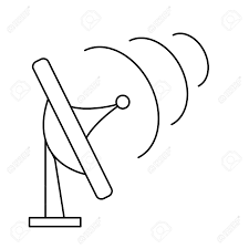 Antenna transmission munication signal symbol outline vector