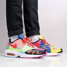 Nike X Atmos Air Max2 Light Atmos X Nike Air Max2 Light Qs Shoes Black Bright Crimson