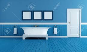 Blue Bathtub old style bathtub in a retro bathroom with blue plank wood stock 4969 by guidejewelry.us