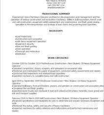 Heavy Equipment Operator Resume Classy Heavy Equipment Operator Resume Samples Nmdnconference