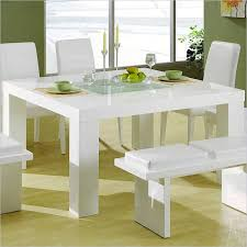 our second square table design features a glossy white surface and ultra minimalist design square dining room
