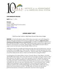 Judges Arent Sexy New Iaals Toolkit Helps States Educate Voters