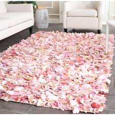 Pink Rugs For Living Room Safavieh Rio Shag Ivory Pink 5 Ft X 8 Ft Area Rug Sg951p 5 The