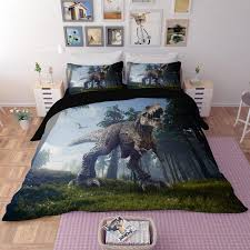 3d cartton dinosaur bedding sets king size cool duvet cover set with pillowcase queen single boys s home textile bedclothes bedding sets comforters