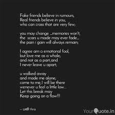 Fake Friends Quotes Mesmerizing Fake Friends Believe In R Quotes Writings By Pavithra